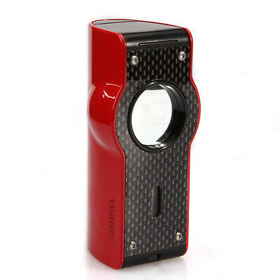 Lubinski Red  Laser Touch Induction 4 Torch Jet Flame Cigar Lighter Cohiba