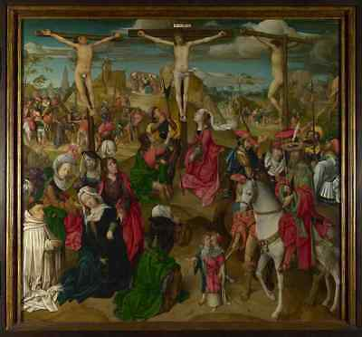 Master of Delft The Crucifixion Central Panel A2 Box Canvas Large