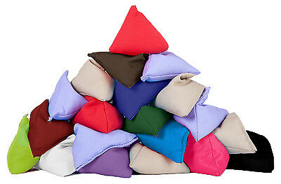 10 Pack Assorted Juggling Pyramid Bean Bags Practice Catching Play Triangular PE