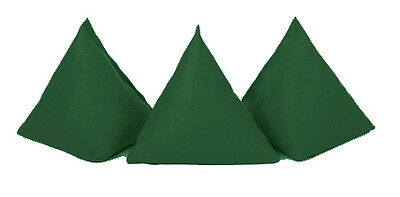Green 5 Pack Cotton Juggling Pyramid Bean Bags Practice Catching Play Triangular