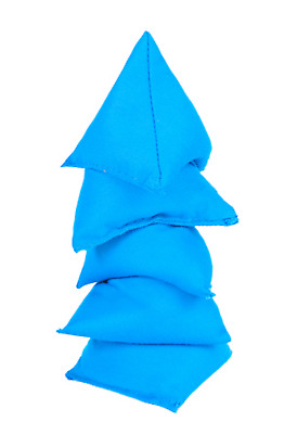 Turquoise 5 Pack Cotton Juggling Pyramid Bean Bags Practice Catching Triangular