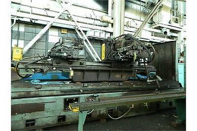 """48"""" x 180"""" x 42"""" THOMPSON SURFACE AND WAY GRINDER 2 RAIL HEADS PL & SWEVELING"""