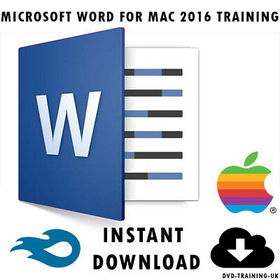 Microsoft Office Word 2016 For MAC - Video Training Tutorial - Instant Download