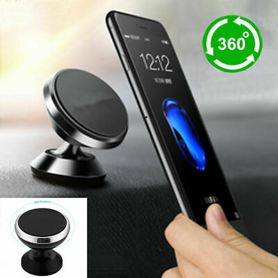 For iPhone Samsung GPS Universal 360° Magnetic Car Mount Cell Phone Holder Stand
