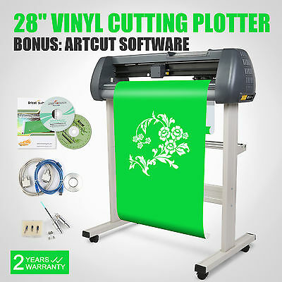 "28"" Vinyl Cutting Plotter Sticker Sign Printer Cutter W/ Artcut Software"