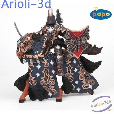 Papo Dark Butterfly And His Horse Guerrier Papillon 38978 6'' New Figure Knight