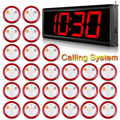 Wireless Service Calling System for Hospital Calling Nurse,25 Bells 1 Receiver