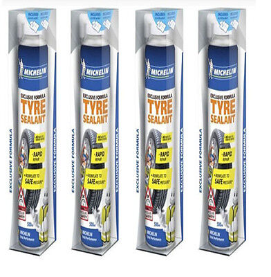 Michelin 12190 Exclusive Formula Tyre Sealant Repair 4 Cans 500ml