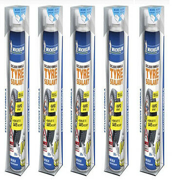 Michelin 12190 Exclusive Formula Tyre Sealant Repair 5 Cans 500ml