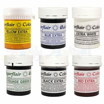 Sugarflair EXTRA CONCENTRATED FOOD COLOUR Paste-Maximum Strength Cake Sugarcraft