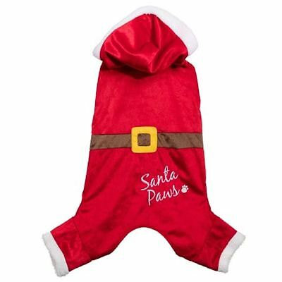 New Christmas Santa Paws Dog Puppy Outfit