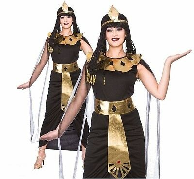 Adult CHARMING CLEOPATRA Fancy Dress Ladies Egyptian Ancient Queen UK Sizes 6-24