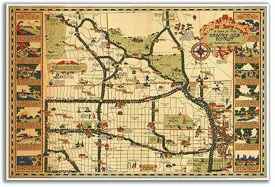 Big MAP of the Country Club District in KANSAS CITY Missouri circa 1930 24x36