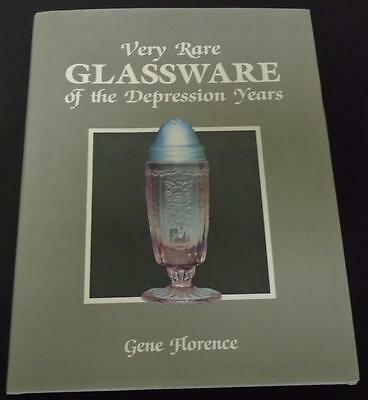 Very Rare Glassware Of The Depression Years Gene Florence 1988 Hardback HB