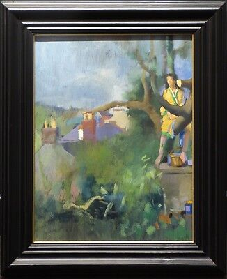 Anna in the Tree by Robert Lenkiewicz Original Painting