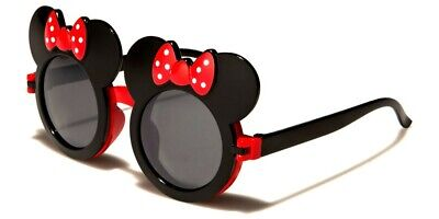 RED MOUSE EAR FLIP UP SUN GLASSES DRAG QUEEN RAVE MICKEY MINI BLACK LENS