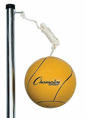 """Champion Sports Deluxe Tetherball Set & Carry Bag 102"""" Rope 24"""" Telecopic Poles"""
