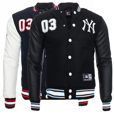 Majestic Yankees Senger Letterman Herren College Jacke Baseball New York
