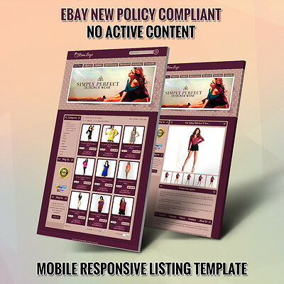 eBay Store Templates & Listing Auction HTML Template for Fashion- Same Day Live