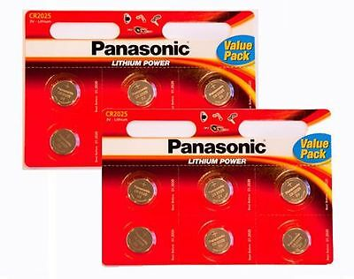 12 x  CR2025 3V Lithium Coin Cell Battery 2025 Panasonic