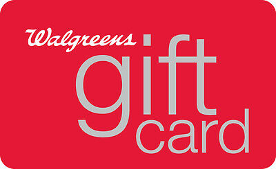 $10 / $25 / $50 / $100 Walgreens Physical Gift Card - 1st Class Mail Delivery