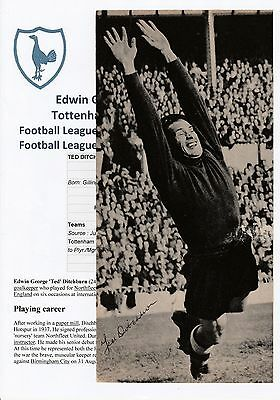 Ted Ditchburn Tottenham Hotspur 1939-1958 Rare Original Signed Magazine Cutting