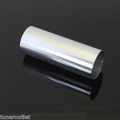 "UNIVERSAL POLISHED ALLOY ALUMINIUM INDUCTION PIPE 3"" 75mm 200mm LONG TUBE Y0474"