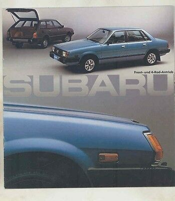 1980 Subaru 1600 Brochure German wv3954