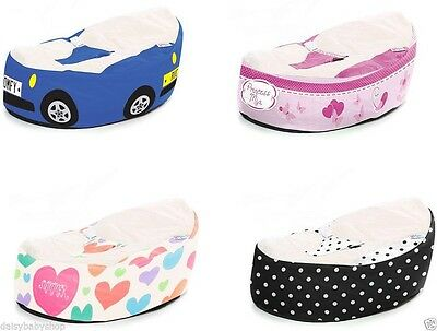 GaGa Cuddlesoft Pre-Filled Baby Bean Bag with Safety Harness - Pick Your Design