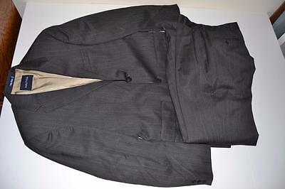 Nautica Gray Charcoal Pinstriped 2 Button Blazer Suit Mens Size 40R 34 X 31