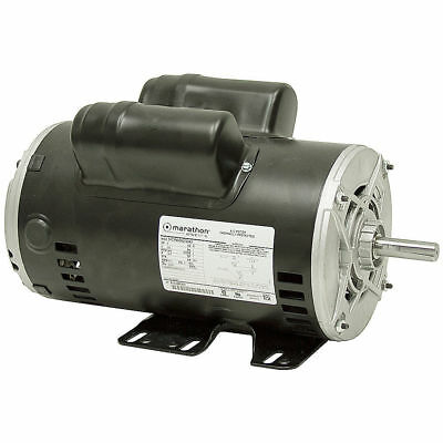 "5 Hp 230 Volts 3450 Rpm 5/8"" Shaft Odp Marathon Compressor Duty Motor 10-3025"