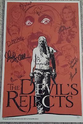 Devil's Rejects Days of the Dead Signed Autographed Print Poster Regular LE 100