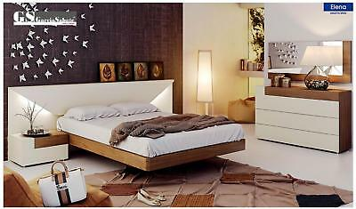 ESF Elena Bedroom Set Lacquer Queen 3 Piece Modern Contemporary Made in Spain