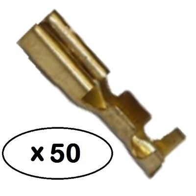 Female Terminals for 2.8mm (110 series) Mini-Latch Connectors - 50 x Brass