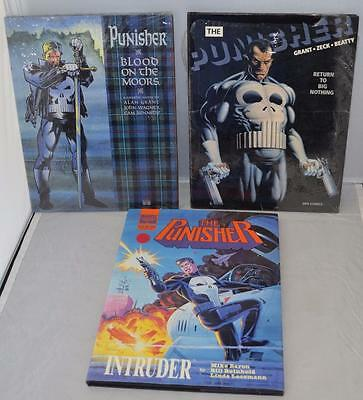 3 Punisher Hardcover lot: Intruder, Blood on the Moors, Return to Big Nothing