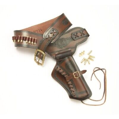 Denix Western Leather Holster with Replica Bullets