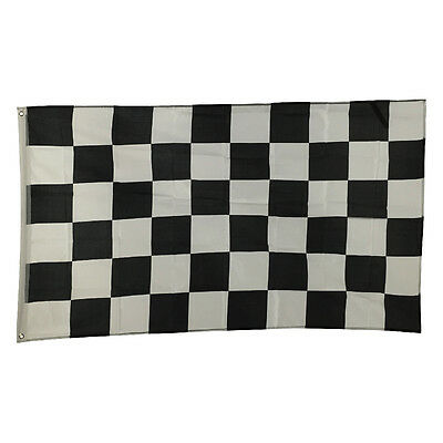 3x5 Ft Racing Black and White Checkered Nylon Polyester Deluxe Flag New Banner