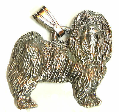 Maltese Pendant Dog Harris Fine Pewter Made in USA jewelry