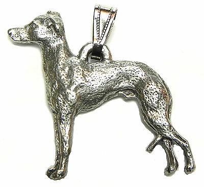Italian Greyhound Pendant Dog Harris Fine Pewter Made in USA jewelry