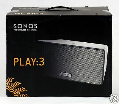 Brand New SONOS PLAY:3 - White Wireless Speaker for Streaming Music PLAY3