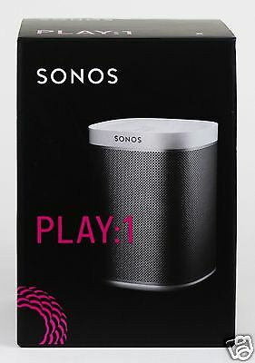 Brand New SONOS PLAY:1 WHITE Wireless Speaker for Streaming Music - White PLAY1