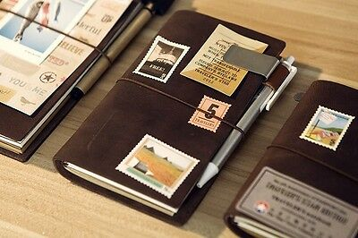 VINTAGE STYLE2  Traveler's Notebook Diary Leather Cowhide diary D0407
