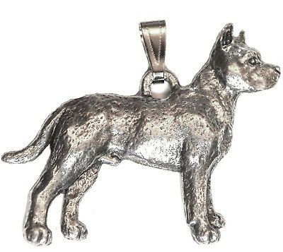 Pitbull Pendant Dog Harris Fine Pewter Made in USA jewelry