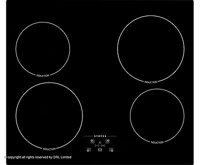 Stoves SIH600TC 59cm 4 Burners Induction Hob Touch Control Black New from AO