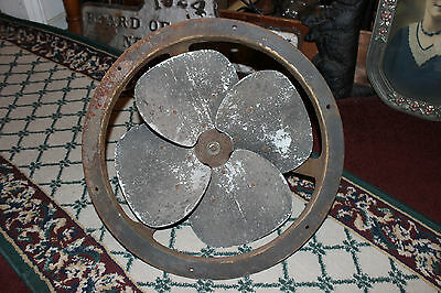 """Antique Diehl USA Commercial Industrial Fan-16"""" Blade-Large Heavy Architectural"""
