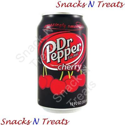Dr Pepper Cherry Soft Drink USA 12 X 355ml Cans - Bulk Party Pack