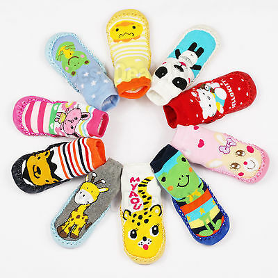 Baby Toddler Non-Slip Shoes Socks Moccasins Booties Slippers Long