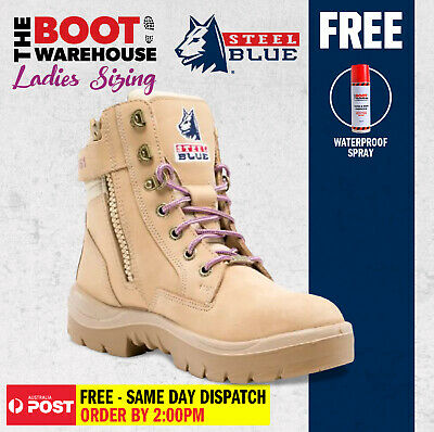 Steel Blue Southern Cross LADIES 522761. Steel Toe Cap Safety Work Boots. ZIP!