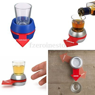 Original Spinner Spin The Shot Glass Drinking Game Fun Party Gifts Included Box