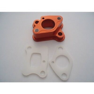 Orange Alloy Intake Manifold for 23-30.5cc engines Zenoah CY RCMK HPI Losi Rovan